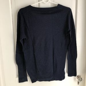 J. Crew Navy V-neck Sweater